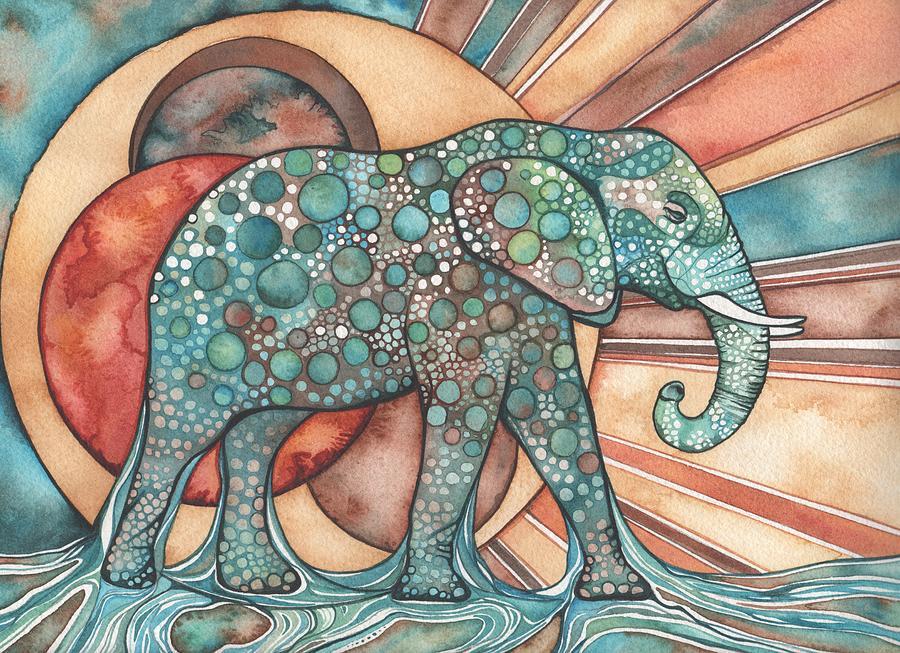 Elephant Painting - Sunphant Sun Elephant by Tamara Phillips