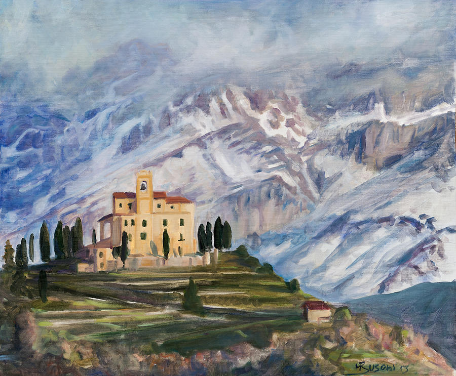 Mountain Painting - Sunray by Marco Busoni