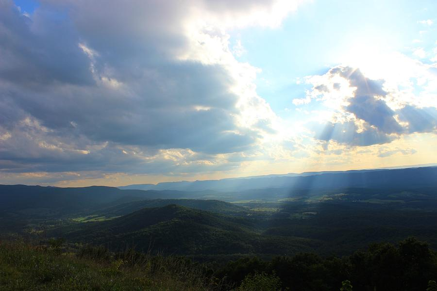 Mountains Photograph - Sunray Valley by Candice Trimble