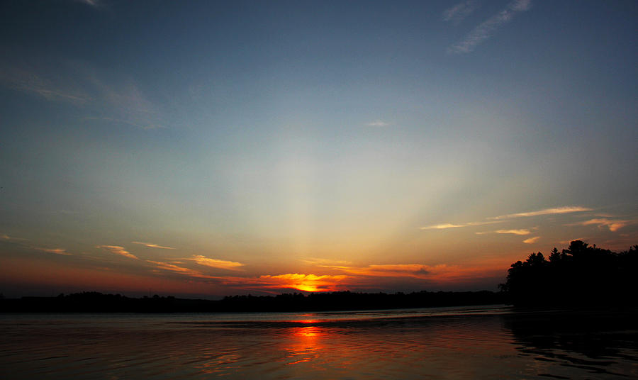 Sunset Photograph - Sunrays At Sunset by James Hammen
