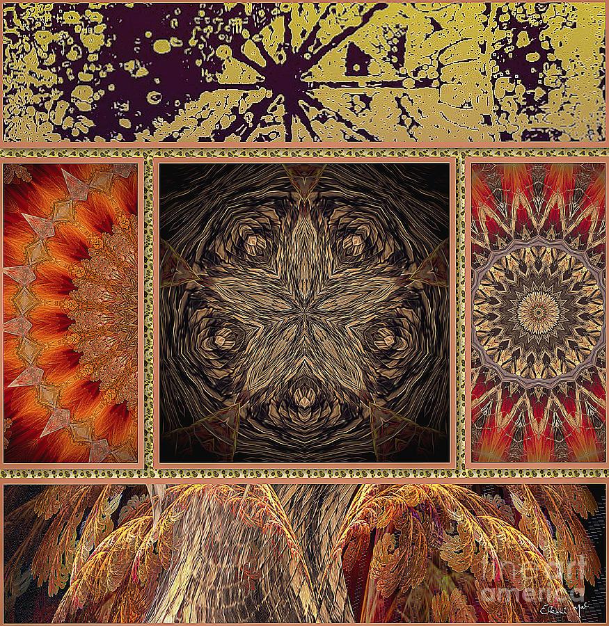 Abstract Digital Art - Sunrays by Eleni Mac Synodinos