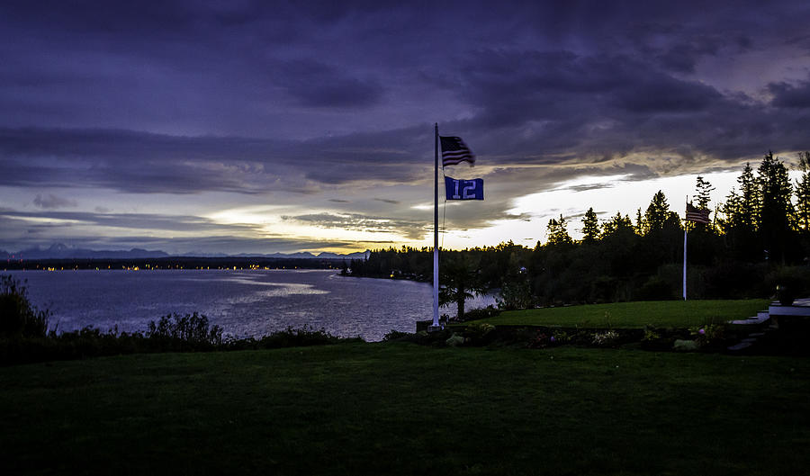 Washington Photograph - Sunrise 12th Man Way by Blanca Braun