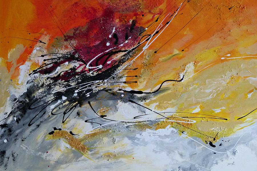 Sunrise Painting - Sunrise - Abstract Art by Ismeta Gruenwald