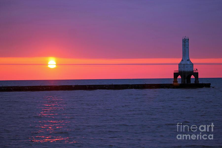 Sunrise And Purple Sky 2 Photograph