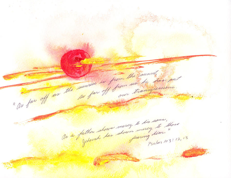 Sunrise Painting - Sunrise And Sunset by B L Qualls