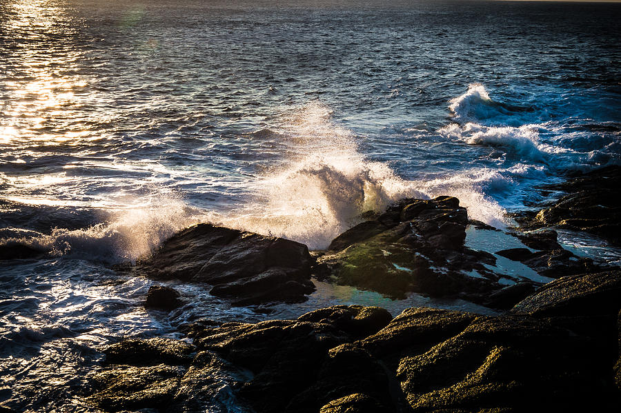 Cape Spear Photograph - Sunrise And Surf by David Pinsent