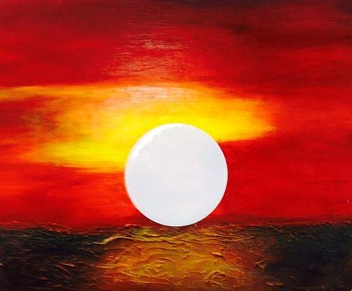 Landscape Painting - Sunrise by Andrea Friedell