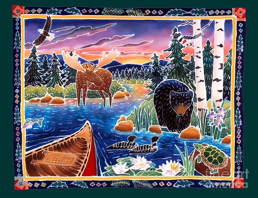 Bear Painting - Sunrise At Bear Lake by Harriet Peck Taylor