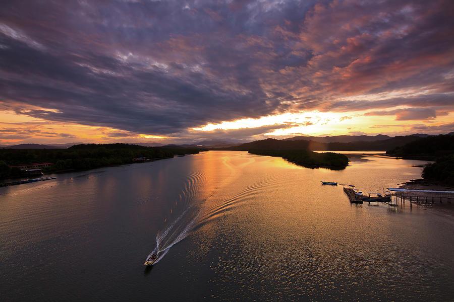 Sunrise At Borneo,sabah,malaysia Photograph by Macbrian Mun