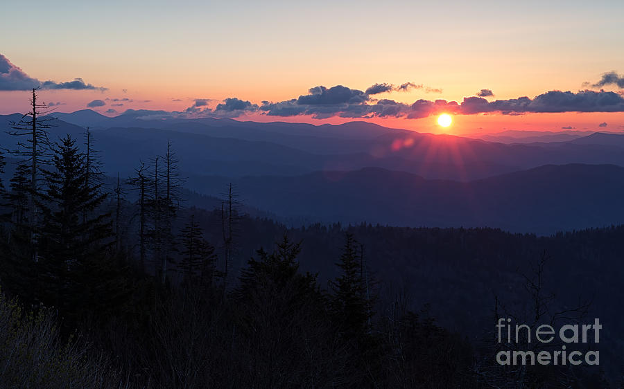 Tennessee Photograph - Sunrise At Clingmans Dome by Joshua Clark
