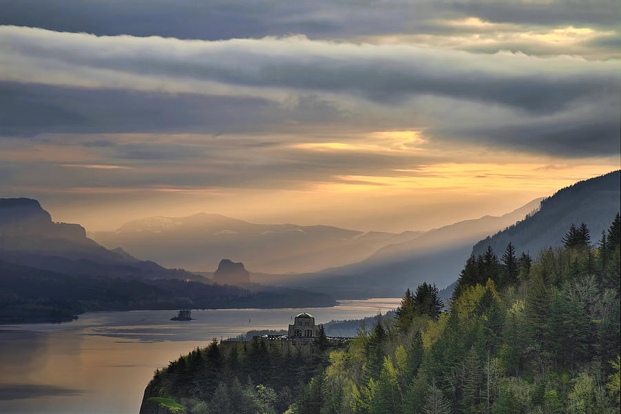 Sunrise Photograph - Sunrise at Crown Point by David Gn