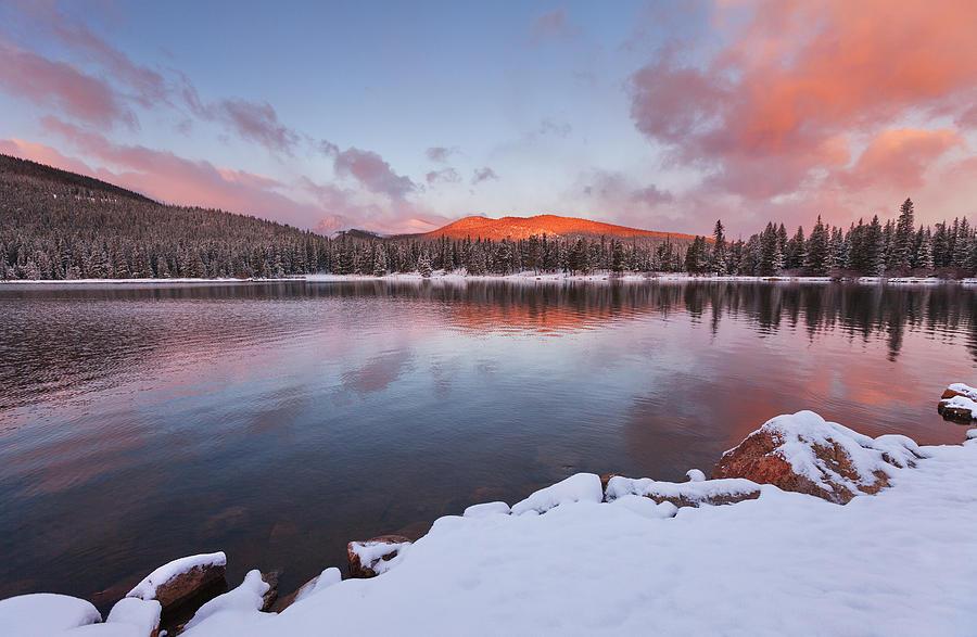Sunrise At Echo Lake Photograph