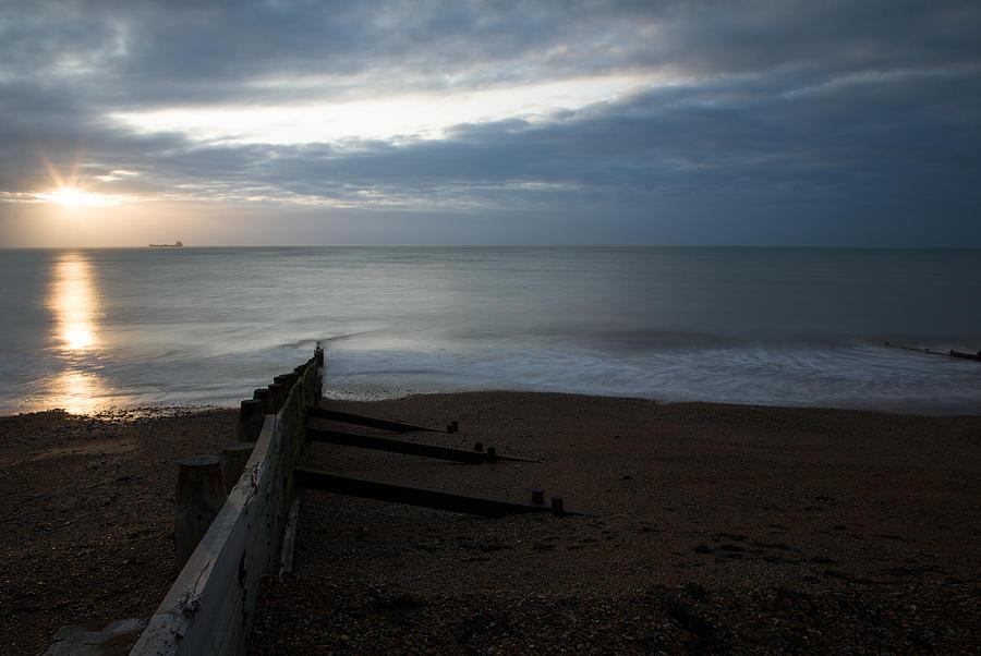 Kingsdown Photograph - Sunrise At Kingsdown by Ian Middleton