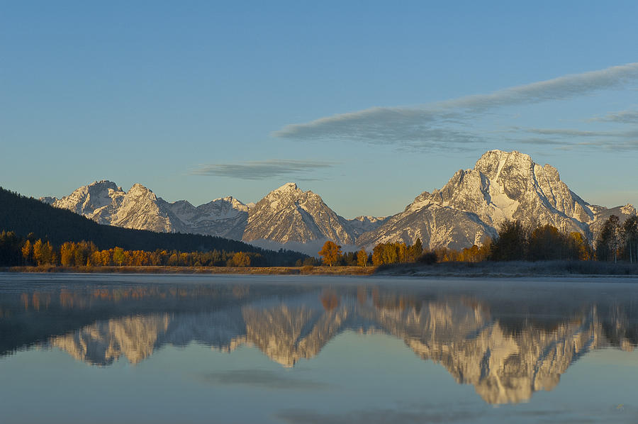 Sunrise At Oxbow Bend Photograph