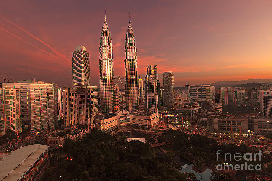 Sunrise Photograph - Sunrise At Petronas Towers by Pete Reynolds