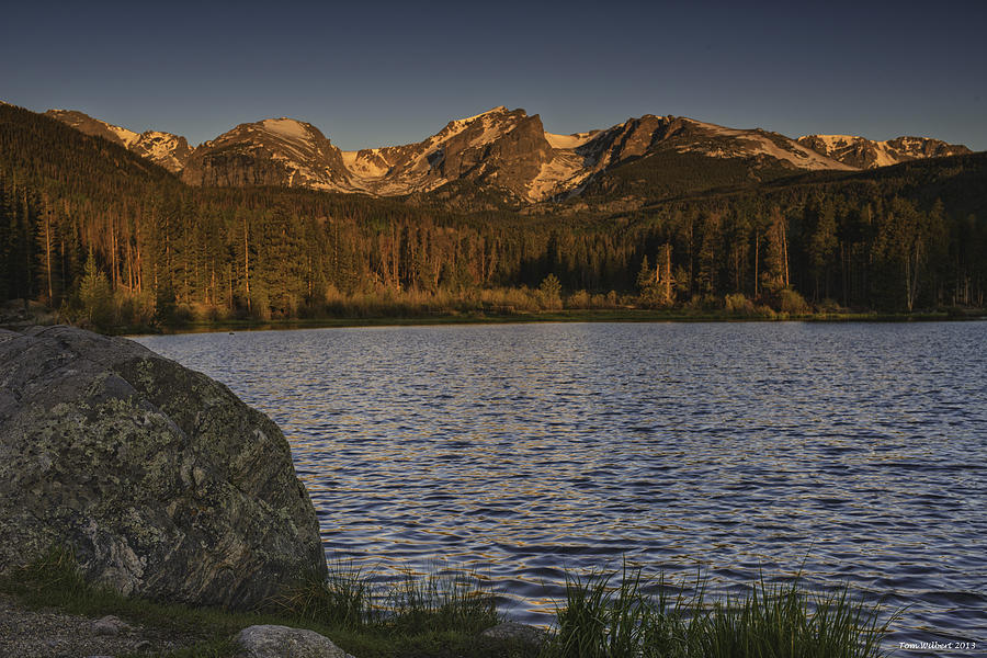 Rockies Photograph - Sunrise At Spraque Lake by Tom Wilbert