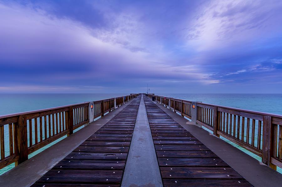Sunrise At The Panama City Beach Pier Photograph