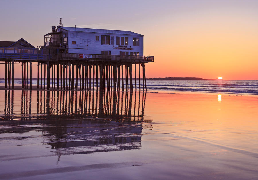Oob Photograph - Sunrise At The Pier On Oob by Shane Borelli