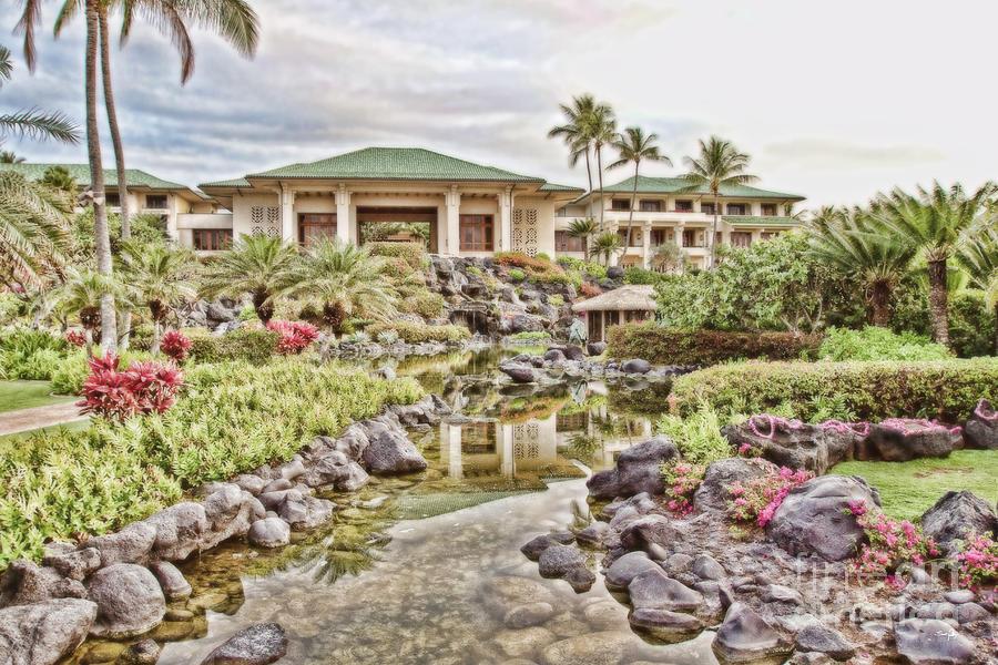 Hdr Photograph - Sunrise At The Resort by Scott Pellegrin