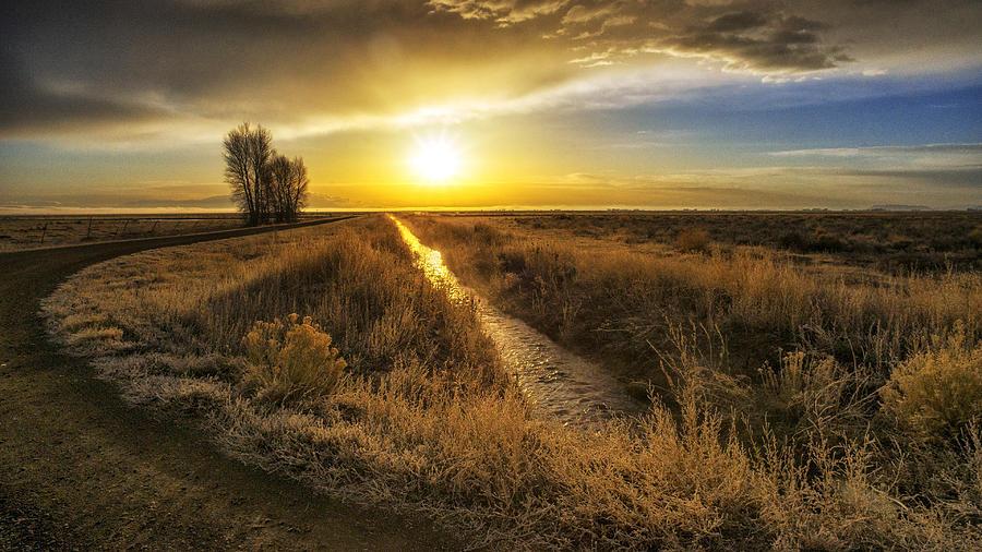 Sunrise At The Wildlife Refuge Photograph by David Soldano