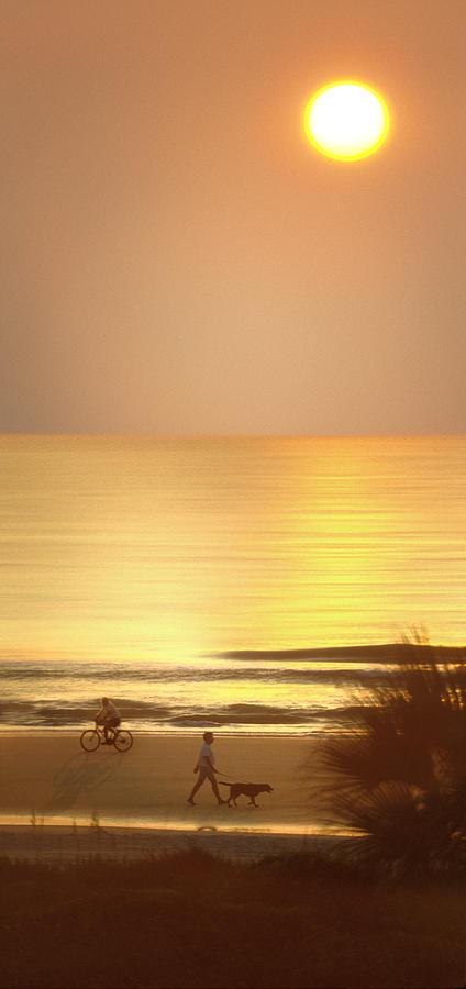 Topsail Island Beach Photograph - Sunrise At Topsail Island Panoramic by Mike McGlothlen