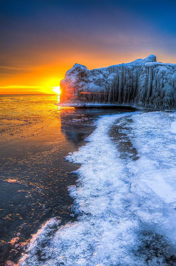 Lake Michigan Photograph - Sunrise Chicago Lake Michigan 1-30-14 03 by Michael  Bennett