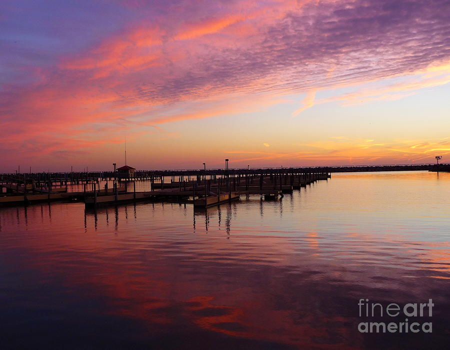 Dock Photograph - Sunrise Dock Over Lake Huron by Pete Dionne