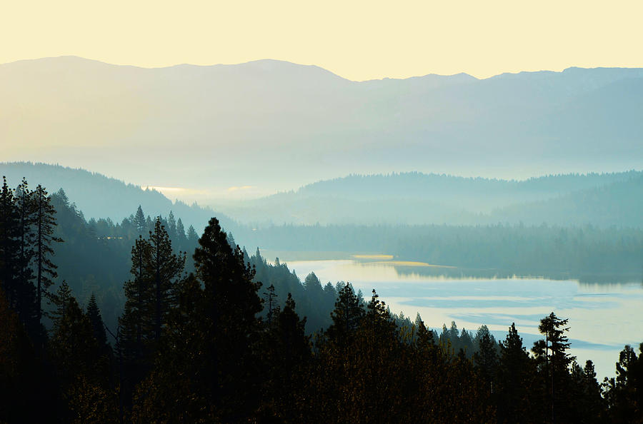 Sunrise Donner Lake California by Marilyn MacCrakin