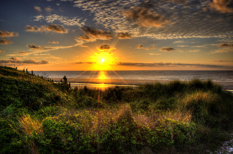 Sunrise Photograph - Sunrise Dune by Greg and Chrystal Mimbs