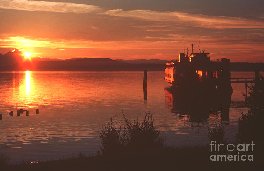 Sunrise Photograph - Sunrise Ferry by Jeanette French