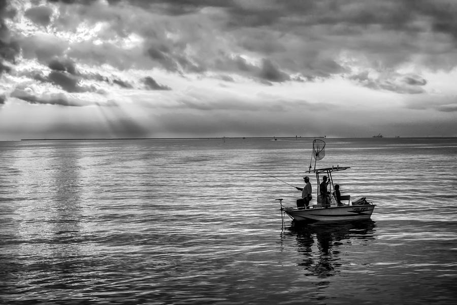 Sunrise Fishermen Photograph