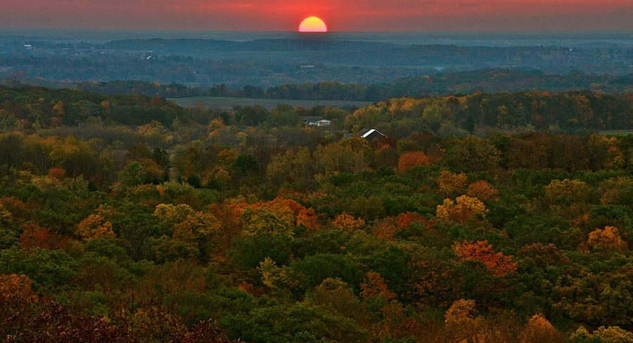 Landscape Photograph - Sunrise From Atop by Julie Franco