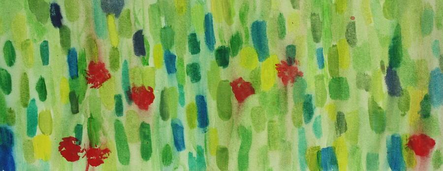 Garden Painting - Sunrise Garden by Tom Atkins