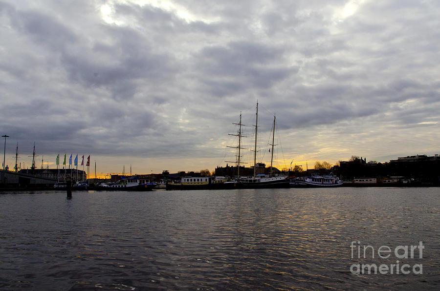 Sunrise Digital Art - Sunrise In Amsterdam by Pravine Chester