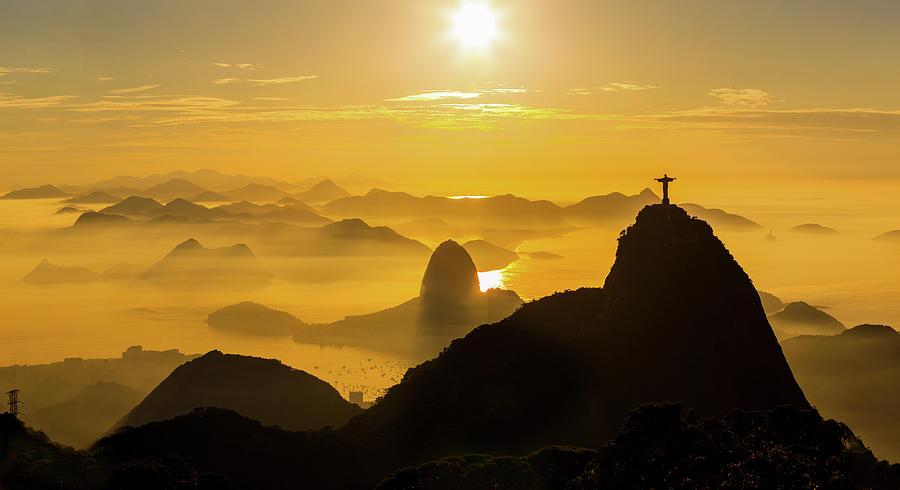 Sunrise In Rio De Janeiro Photograph by Flavio Veloso