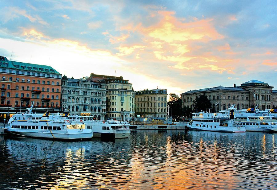 Stockholm Photograph - Sunrise In Stockholm by Jenny Hudson