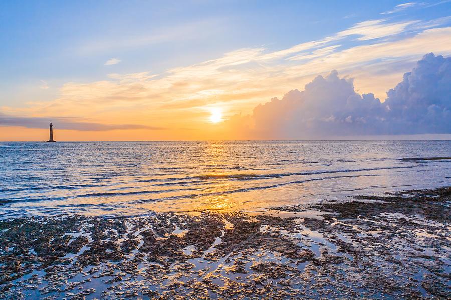 Folly Beach Photograph - Sunrise In The Atlantic by Keith Allen
