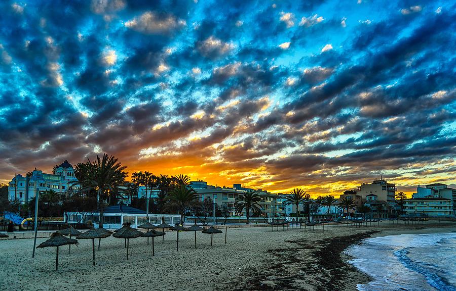 Beach Photograph - Sunrise In The Beach by Maksims Novikovs