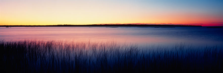 Color Image Photograph - Sunrise Lake Michigan Wi Usa by Panoramic Images