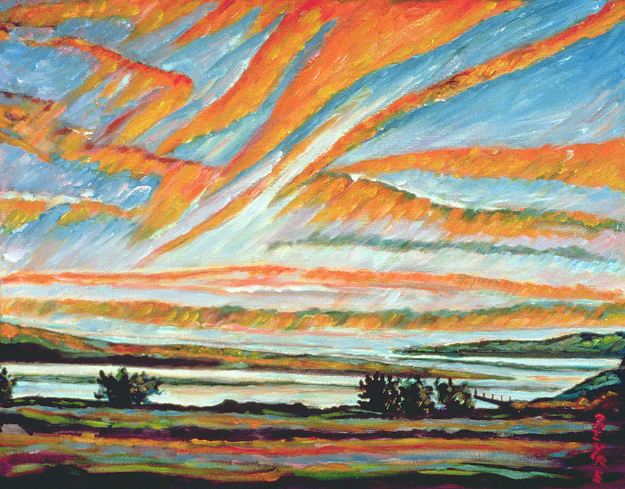 Morning Painting - Sunrise Les Eboulements Quebec by Patricia Eyre
