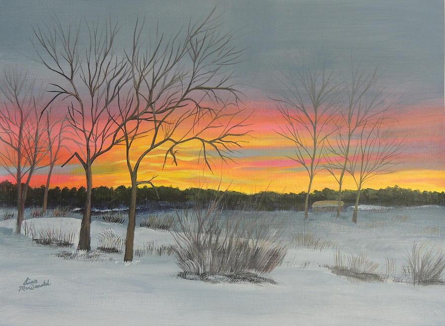 Landscape Painting - Sunrise by Lisa MacDonald