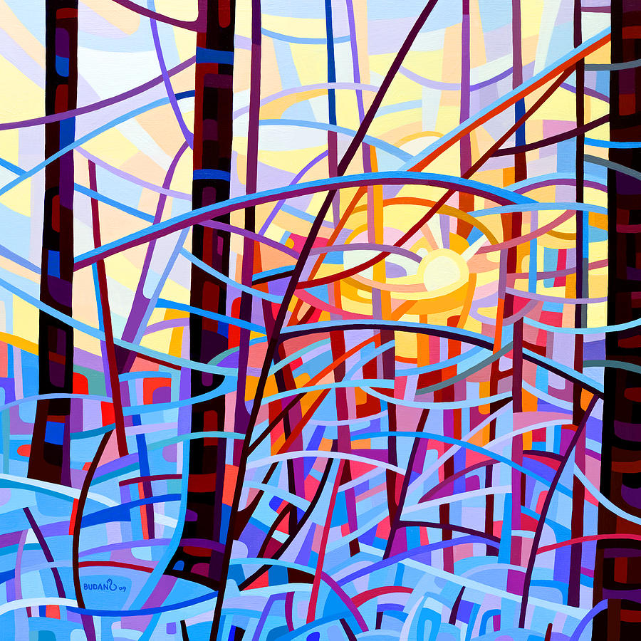 Abstract Painting - Sunrise by Mandy Budan