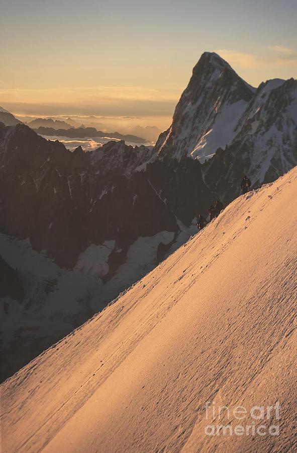 Accomplishments Photograph - Sunrise Massif Du Mt Blanc by Soren Egeberg