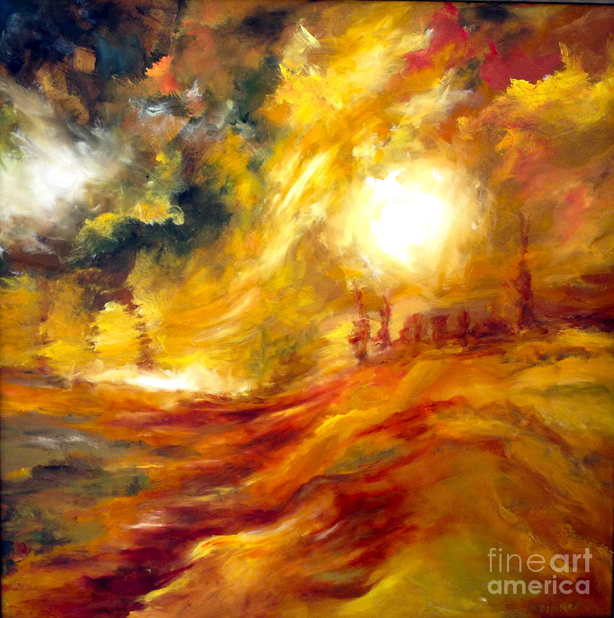 Sun Painting - Sunrise by Michelle Dommer