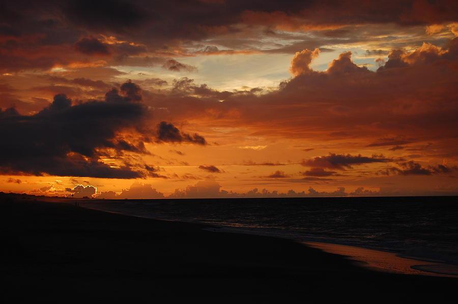 Beach Photograph - Sunrise  by Mim White