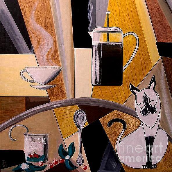 Morning Painting - Sunrise Morning Ritual by John Lyes