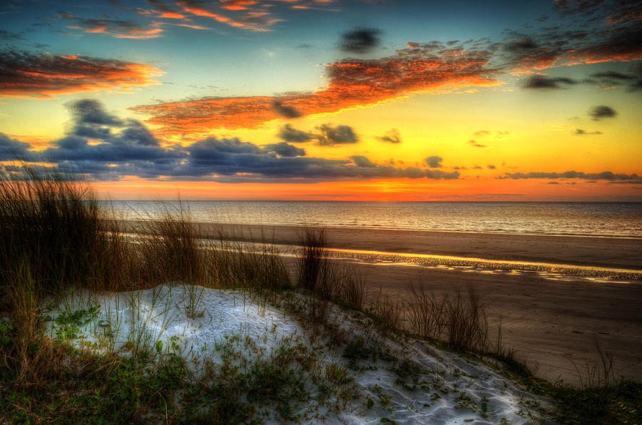 Sunrise on a Jekyll Island Dune by Greg and Chrystal Mimbs