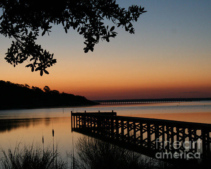 Landscape Photograph - Sunrise On Bogue Sound by Cari Gesch