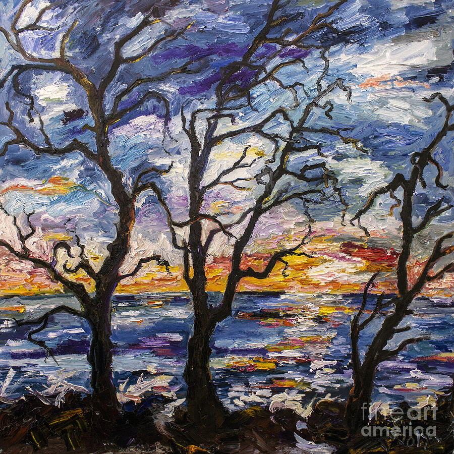 Georgia Painting - Sunrise On Jekyll Island Georgia by Ginette Callaway