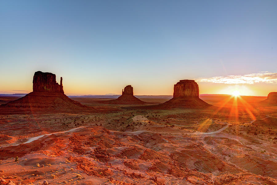 Sunrise On Monument Valley Photograph by Loic Lagarde